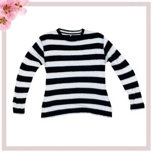 R13 Black/White Cashmere long sleeve sweater